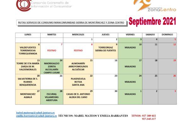 Calendario Rutas